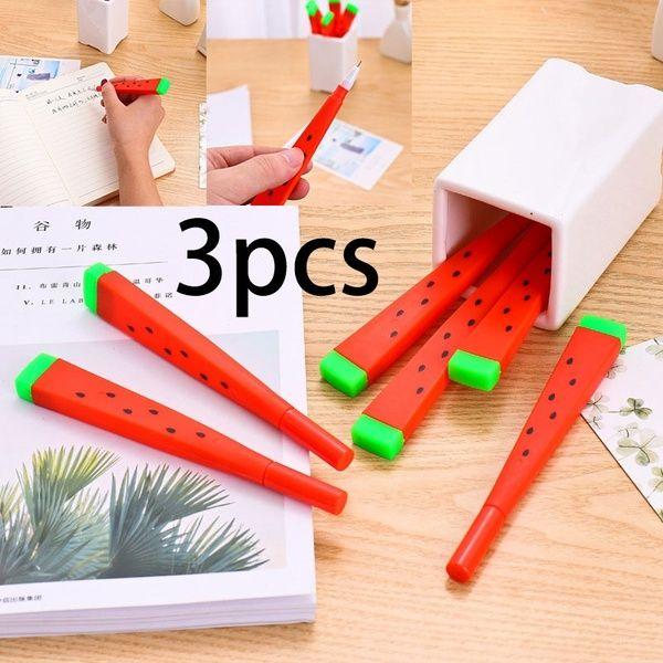 Korean Stationery Cute Watermelon Pen 0.5mm Creative School Office Gel Pen Gift