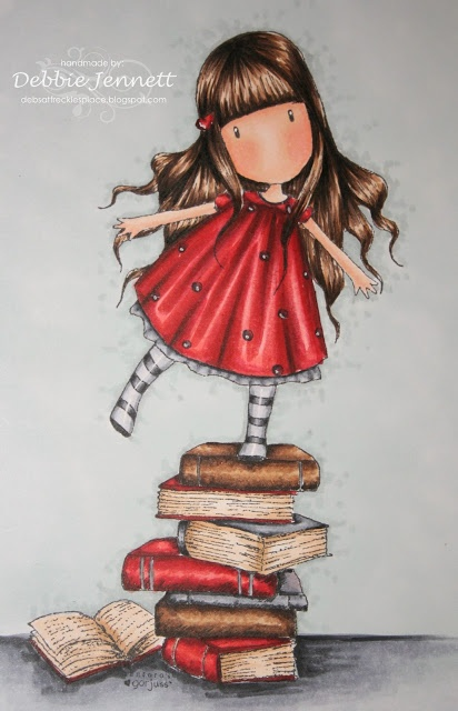 "Los ninos son como verdaderas flores, llenos de alegria y luz.. Como mi tablero ""Rosas,flores sobre libros""  Gorjuss Girl - coloured with Copic Ciao"