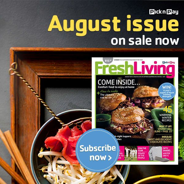 Learn how to make the ultimate coq au vin, grab your own August #Freshliving issue #picknpay