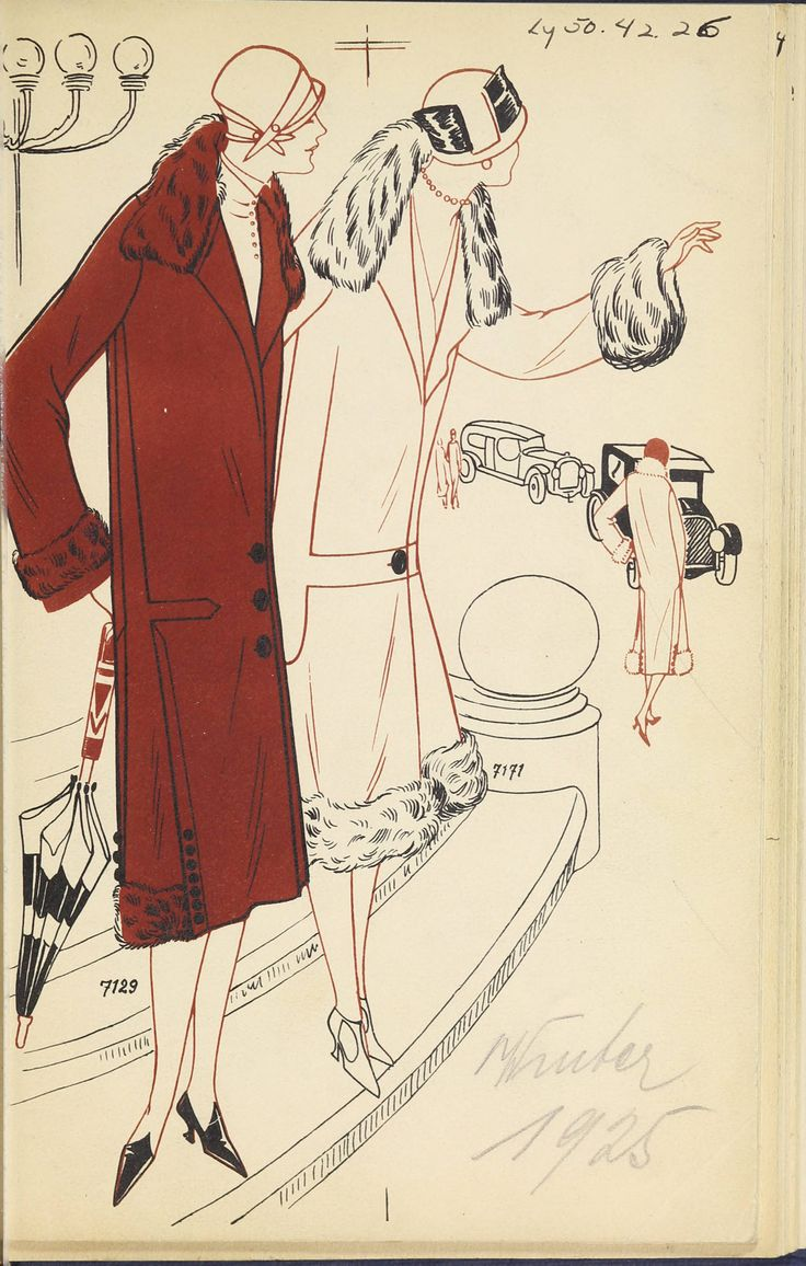 [Herbst und Winter-Saison, 1925-1926]. 1925. Metropolitan Museum of Art (New York, N.Y.). Thomas J. Watson Library. Trade Catalogs #fashion #winter| Staying fashionable in the winter season.