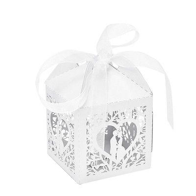 10/50/100 Peças De Fita De Coração Amor favor Caixas De Doces Com Caixa De Presente Decoração Festa Casamento 00