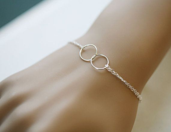 delicate, simple, and yet -- so meaningful // adorable sister-of-the-bride / maid-of-honor(s) gift :) ** maybe see if they can add a circle for three sisters :)