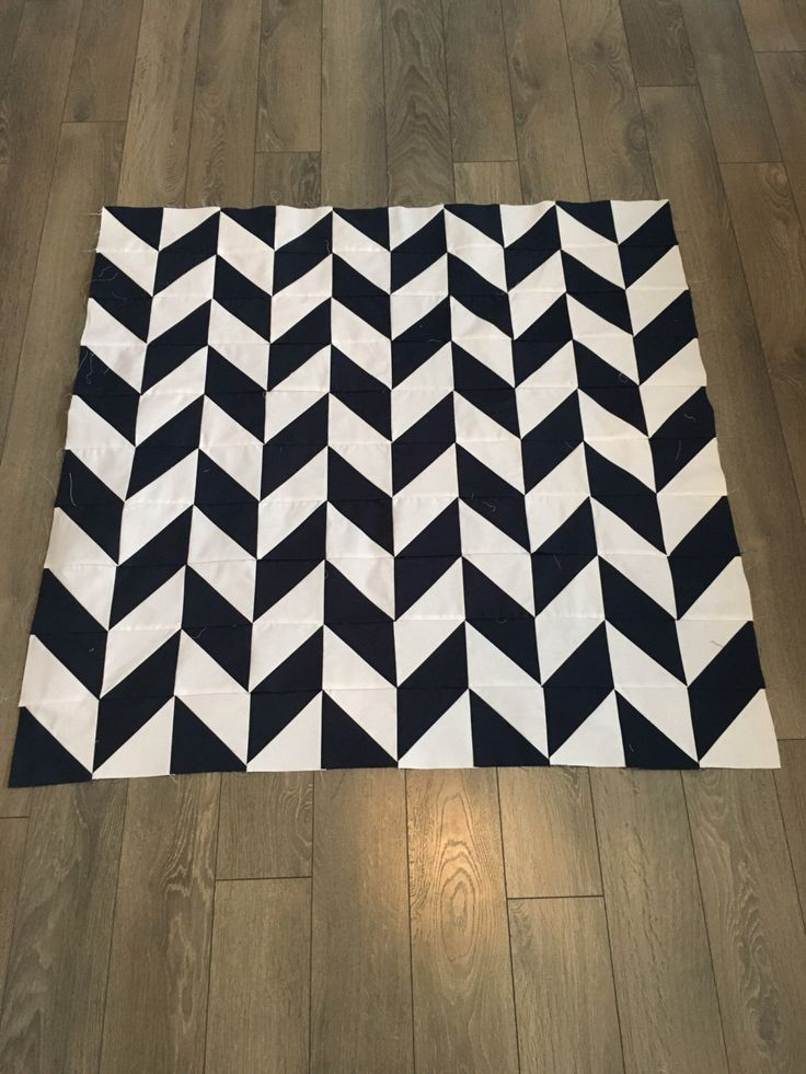 A personal favorite from my Etsy shop https://www.etsy.com/ca/listing/507021143/navy-and-white-herringbone-quilt