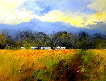Farm Landscape by Derric van Rensburg | Dante Art Gallery South Africa