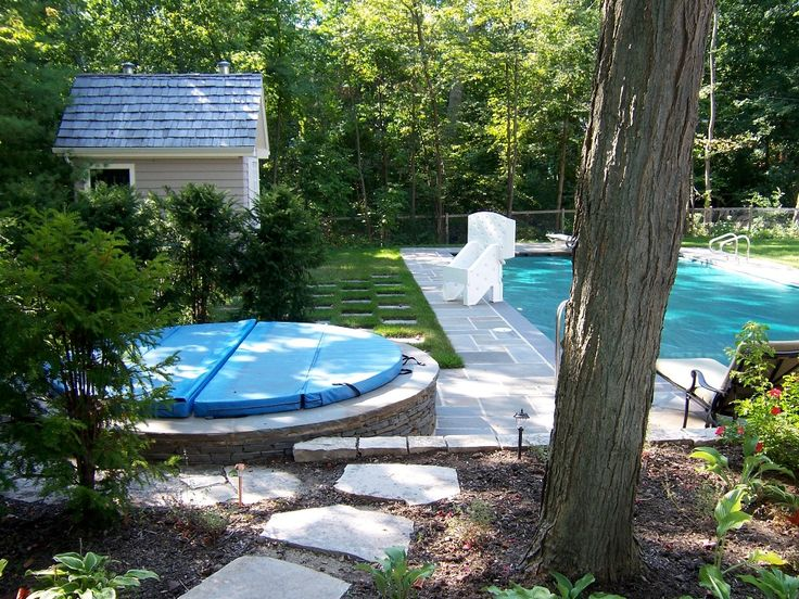 147 best hot tub images on pinterest - Patio Ideas With Hot Tub