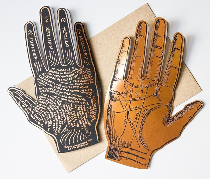 This is a great card to give a high five to yourself, or to give to a friend who is searching for answers in the palm of their hand! The front of this copper-fo