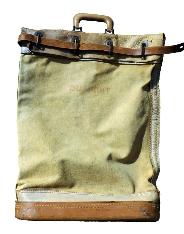 Canvas and Leather Tote Bag. Men's Spring Summer Fashion.