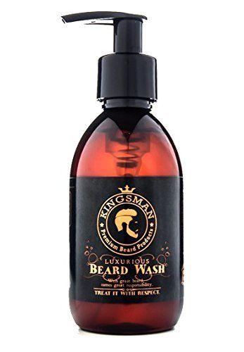 Lujoso jabón líquido Kingsman para la barba, champú para la barba, jabón para la barba, promueve un crecimiento saludable - Botella XL 200ml