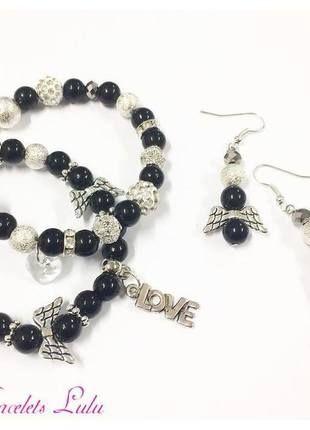 Kupuj mé předměty na #vinted http://www.vinted.cz/doplnky/sety/10593810-krasny-cerno-stribrny-set-naramek-nausnice
