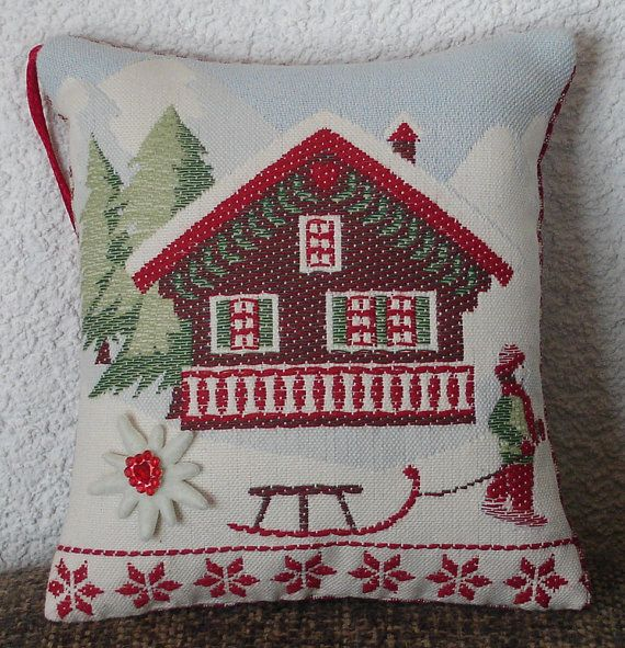 Swiss Chalet LavenderScented Hanging Cushion by AlexV on Etsy, $12.00