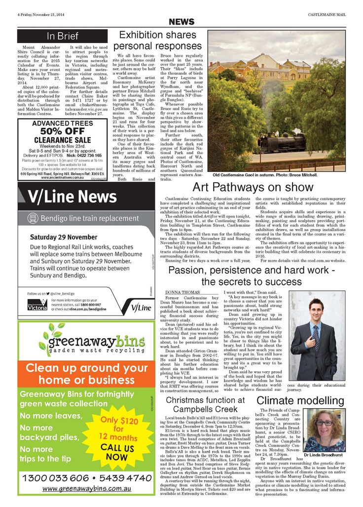 Castlemaine Mail Newspaper - Dean Munro - The Secrets to Success