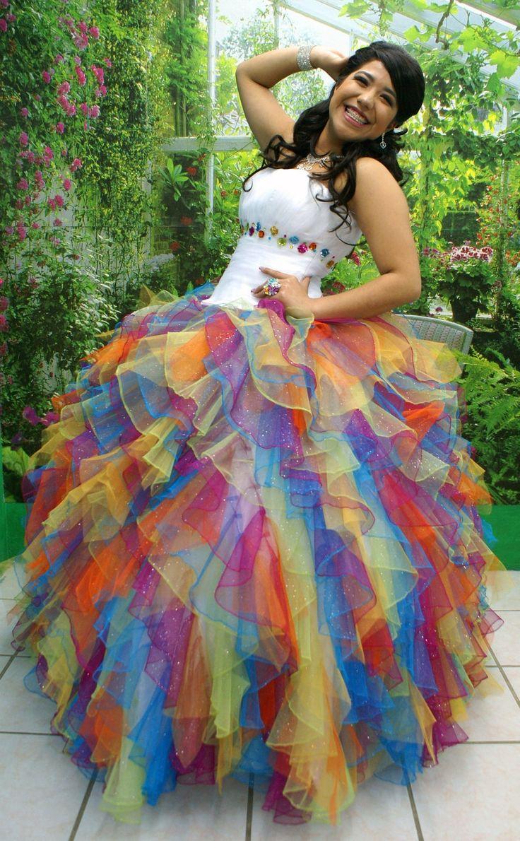 B E A U T I F U L  Spring Fairy  Metallic Rainbow and White Dress by AzulAlabastru. , via Etsy.