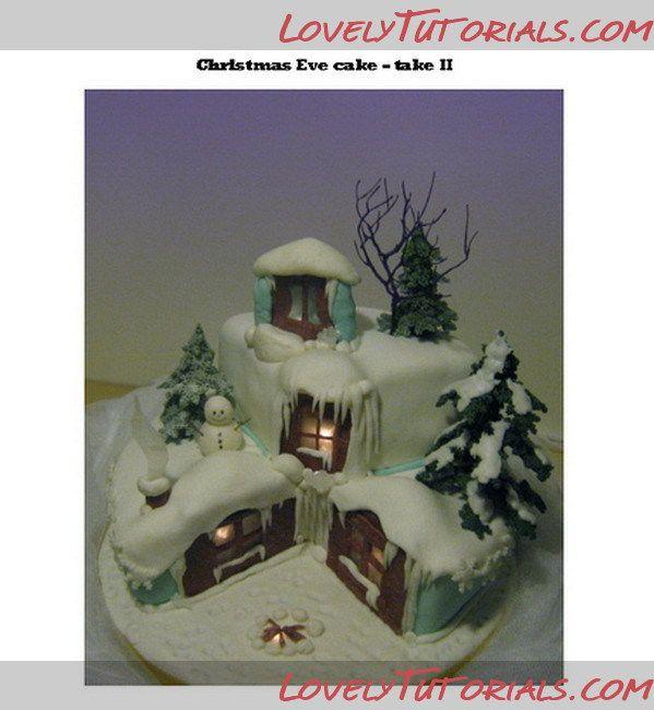 """МК торт """"3Д рождественский домик"""" -Christmas house cake tutorial - Мастер-классы по украшению тортов Cake Decorating Tutorials (How To's) Tortas Paso a Paso"""