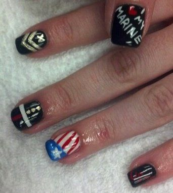 95 best marine corps nail art images on pinterest marine corps marine themed nails done by my beat friend beth prinsesfo Images