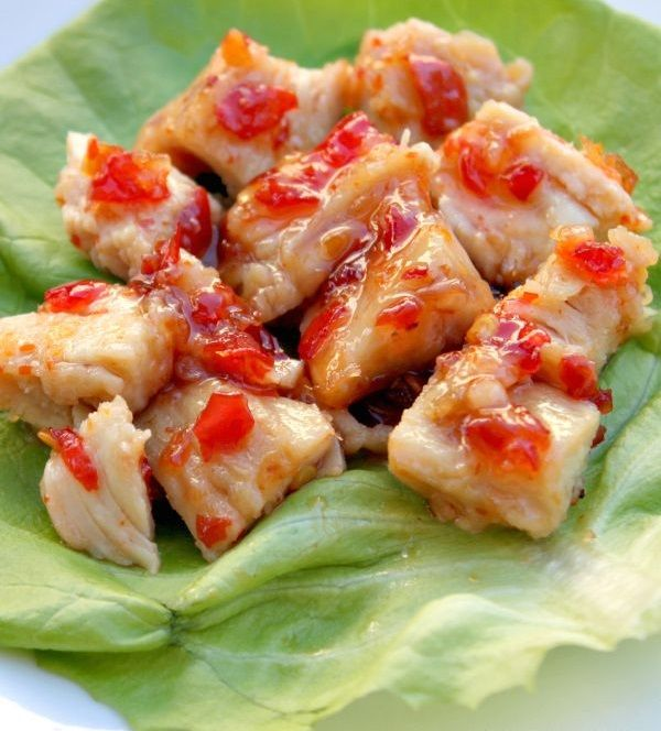 Sweet Chili Chicken Lettuce Wraps