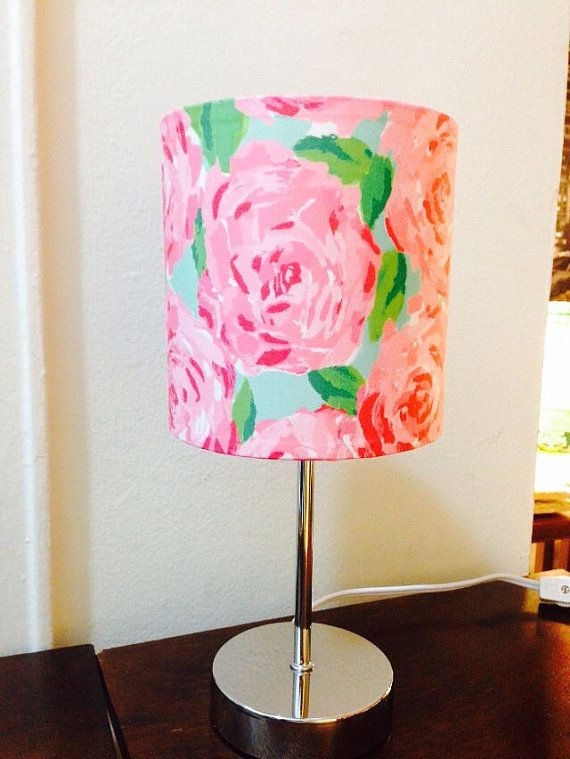 Lilly Pulitzer Lamp in First Impression Fabric by LillyGirlCrafts