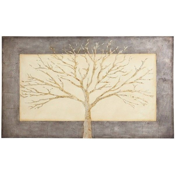 Pier 1 Imports Stunning Simplicity Tree Art 239 Liked On Polyvore Featuring Home Home Decor Wal Silhouette Wall Art Grey Wall Art Nature Canvas Painting