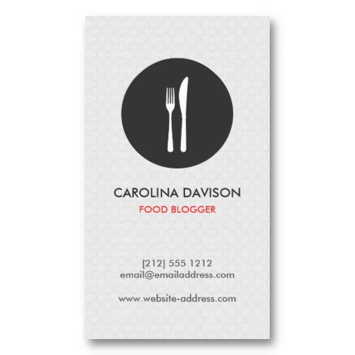 Personal chef business cards colourmoves