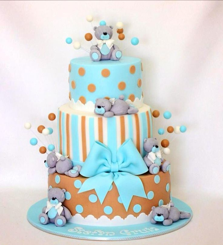Lovely teddy bear birthsday cake