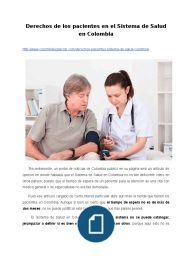 Derechos de los pacientes en el Sistema de Salud en Colombia