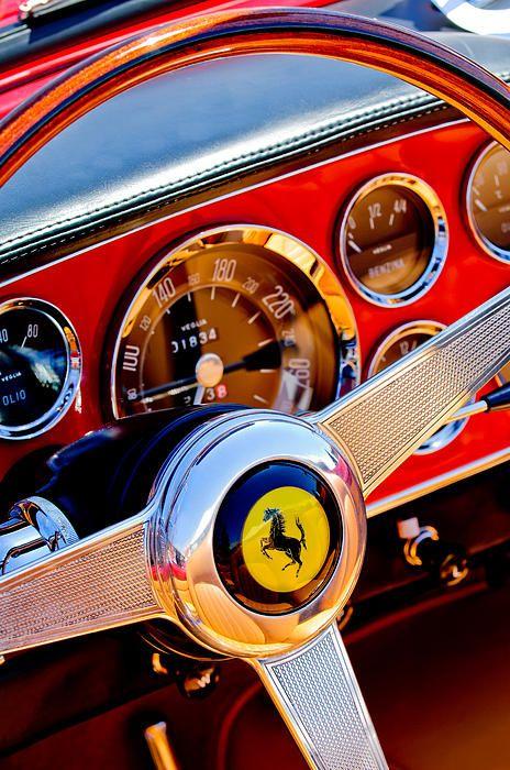 Images of Steering Wheels by Jill Reger - Steering Wheel Images -   1960 Ferrari 250 Gt Cabriolet Pininfarina Series II Steering Wheel Emblem