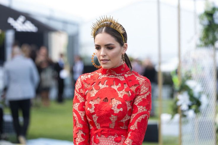 The Best Dressed From Caulfield Guineas Day Melbourne Spring Racing 2016 - Olympia Valance