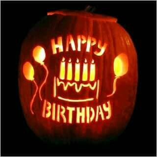 Halloween Birthday Greeting .
