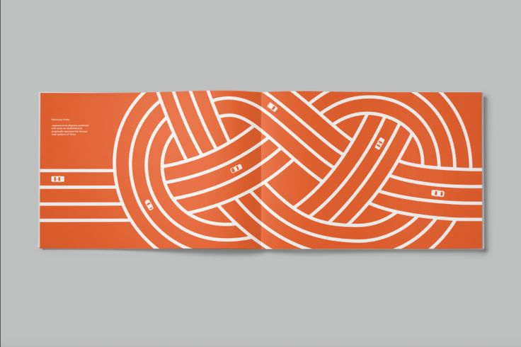 A pattern inspired by Japan's motorway system
