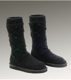 Authentic UGGS Womens Classic Cardy Black 5879 Online