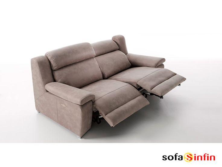 Sofá relax de 3 y 2 plazas modelo Blus fabricado por A odel en
