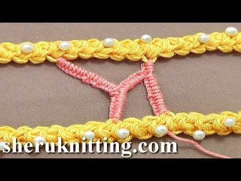 Branched Buttonhole Stitch Bar/Bridge Tutorial 50 Part 8 of 9 Romanian P...