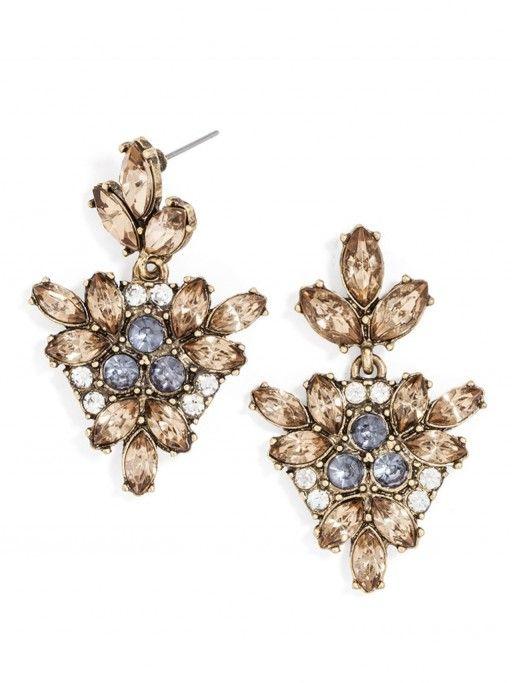 Crystal Holy Drop Earrings. Buy them - http://jumkey.com/shop/all-earrings/crystal-holly-drop-earrings/
