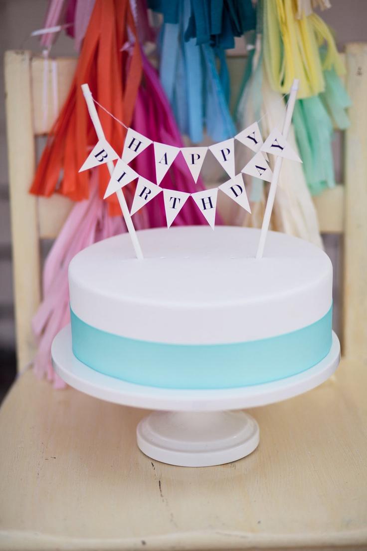 Happy Birthday Cake Topper. $18.00, via Etsy.