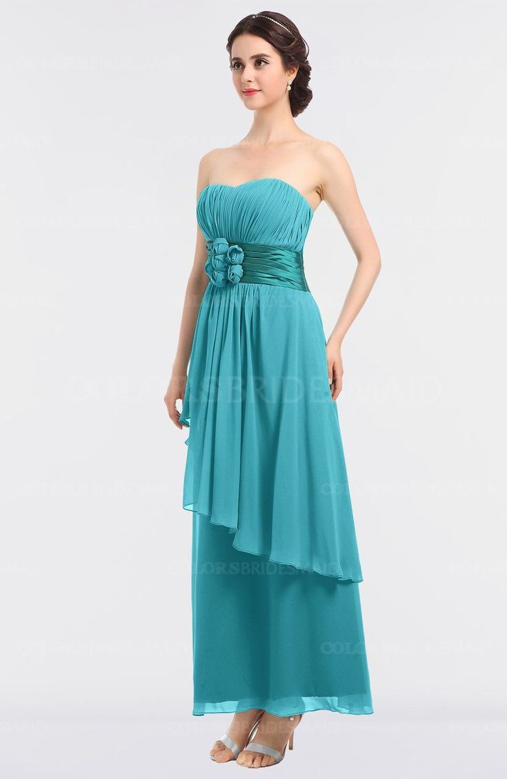 Best 25 ankle length bridesmaids gowns ideas on pinterest ankle turquoise elegant a line sleeveless zip up ankle length ruching bridesmaid dresses ombrellifo Gallery