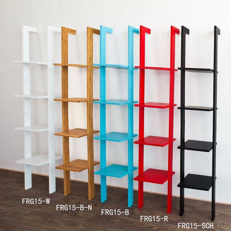 SoBuy Modern 4 Tiers Ladder Shelf, Stand Shelf Wall Shelf Bookcase, Bamboo + MDF, H179cm, FRG15-B-N: Amazon.co.uk: Kitchen & Home