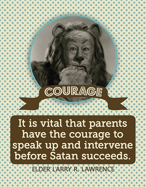 Relief Society Handout - Courageous Parenting #lds
