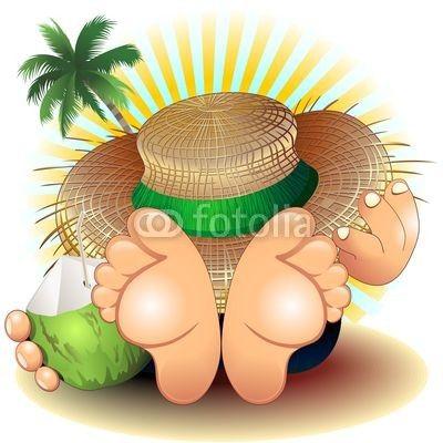 Vettoriale: Relax Summer Holidays on Beach-Riposo Vacanze Estate al Mare