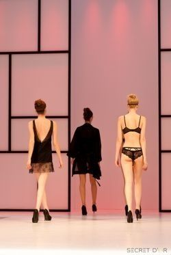 Lingerie too beautiful to cover up! @ModaExhibition #womenswear #catwalk