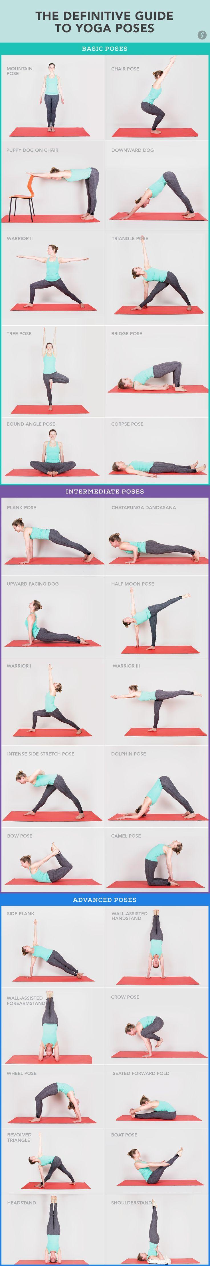 As únicas 30 poses de yoga que você precisa saber.