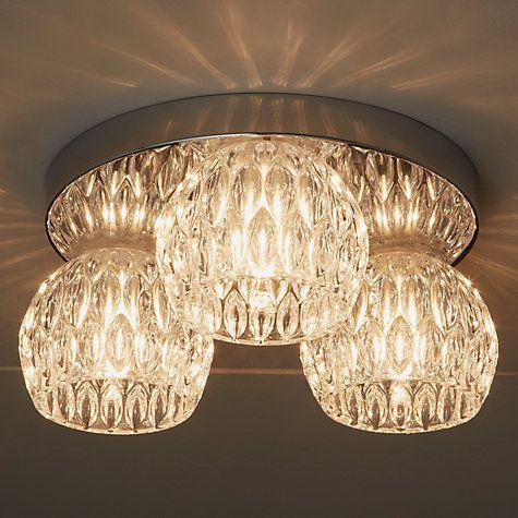 Buy John Lewis Toledo Crystal Flush Ceiling Light, 3 Light Online at johnlewis.com