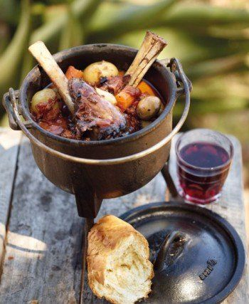 A lamb potjie can be made with whole shanks, neck chops or any other pieces marked for stewing