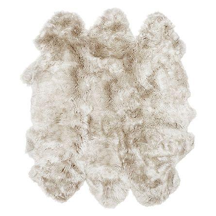 Sheepskin Wool Rug In Linen