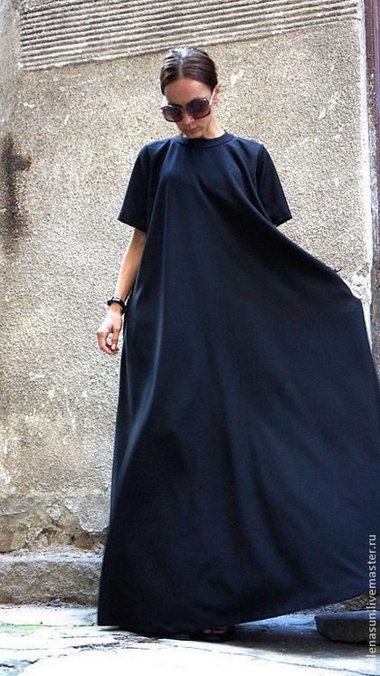 Купить или заказать Платье Maxi Dress в интернет-магазине на Ярмарке Мастеров. Модное, экстравагантное, летнее платье в пол. Простой и в тоже время сложный крой, придают платью шарм, оригинальность , свободу, комфорт. Вы можете носить его свободным, можете одеть с пояском. С обувью вы так же можете экспериментировать. Я уверена вы полюбите это платье, оно бросает вызов моде и окружающим. Возможно выполнить в цветах: Черный Светло -серый Бежевый Арбузный Темно -синий…