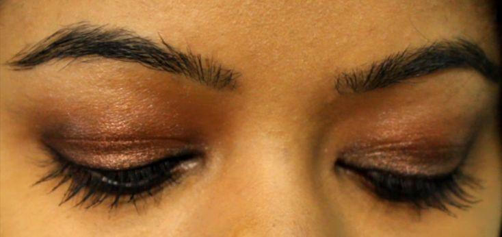 copper smokey eyes