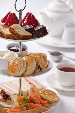 This is the correct order for afternoon tea to be served on the stand. #teaparty #afternoontea #scones