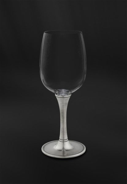 Crystal & Pewter Wine Glass - Height: 20 cm (7,9″) - Food Safe Product - #pewter #crystal #wine #glass #peltro #cristallo #calice #vino #zinn #kristallglas #weinkelch #étain #etain #cristal #verre #vin #peltre #tinn #олово #оловянный #glassware #drinkware #barware #accessories #decor #design #bottega #peltro #GT #italian #handmade #made #italy #artisans #craftsmanship #craftsman #primitive