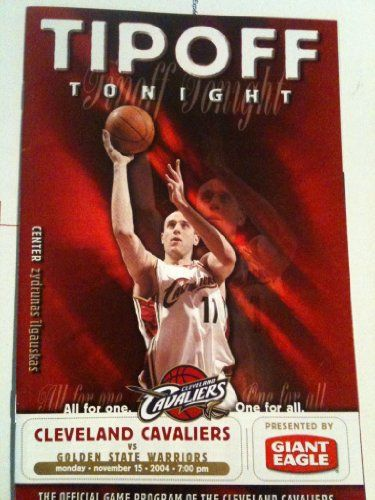 Cleveland Cavaliers Game Program (Tipoff Tonight) November 15 2004 Zydrunas Ilgauskas Cover (Lebron James Bobblehead Night)