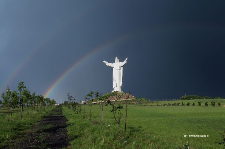 after the storm at the monument of Jesus