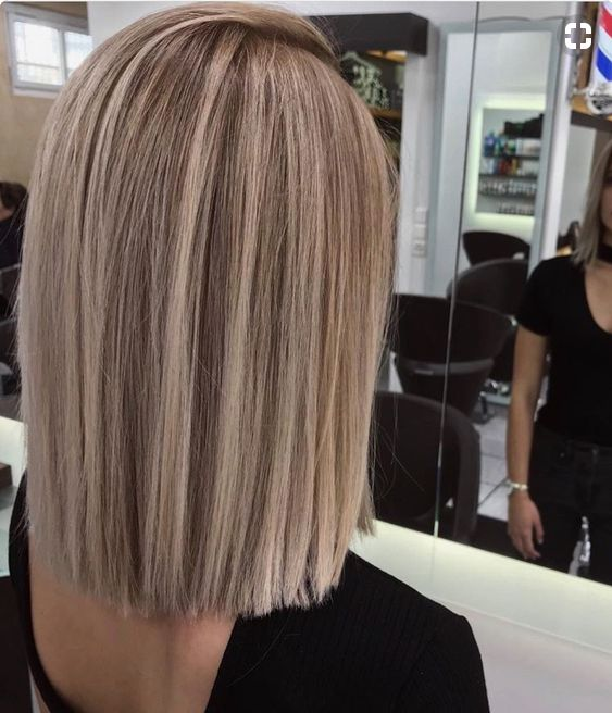 Shoulder Length Blunt Cut Hair