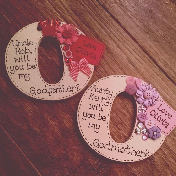 Special Handmade gifts to ask someone to be a godparent